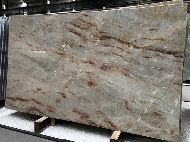Polished Brazilian Nacarado Quartzite slab