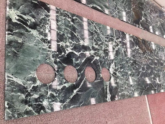 Verde Alpi Marble Countertops with Sink Cut-out