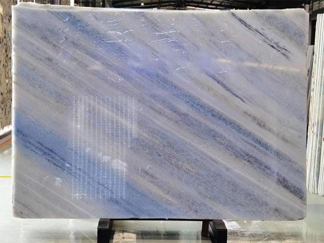 Luxury Polished Iceberg Blue Quartzite slab