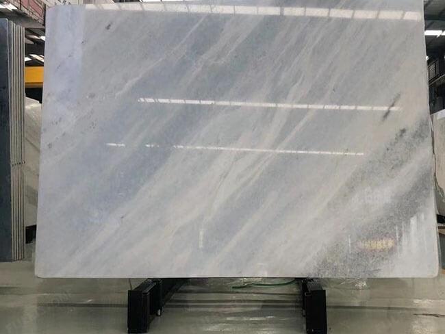Luxury Polished Iceberg Blue stone big slab for interior
