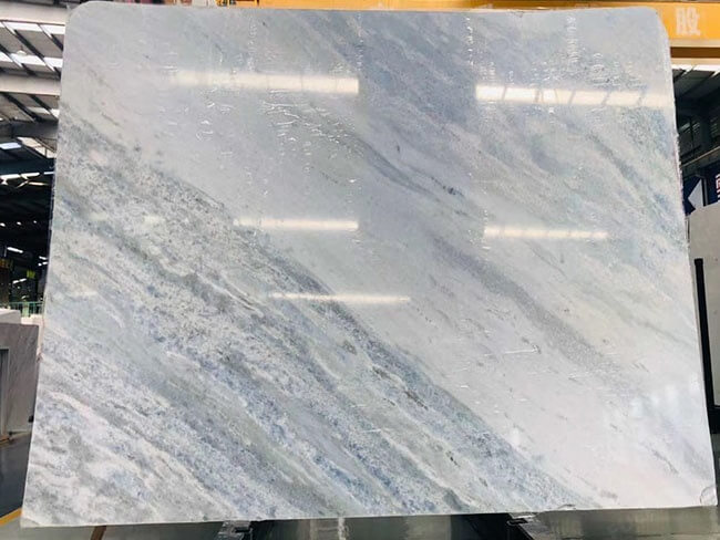 Natural Iceberg Blue Quartzite slab for bathroom