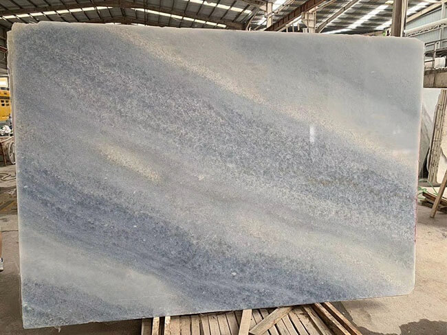 Natural Polished Iceberg Blue Quartzite slab