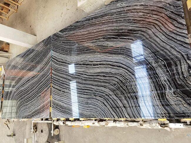 bookmatch polished kenya black marble slabs
