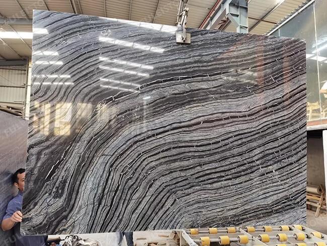 polished kenya black marble slabs (2)