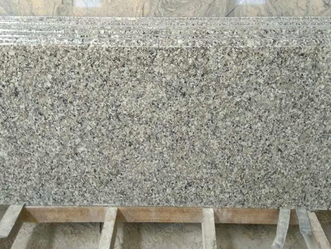 swan white granite countertop eased edge