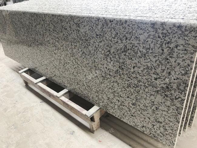 Bala White Granite Countertop with bullnose edge