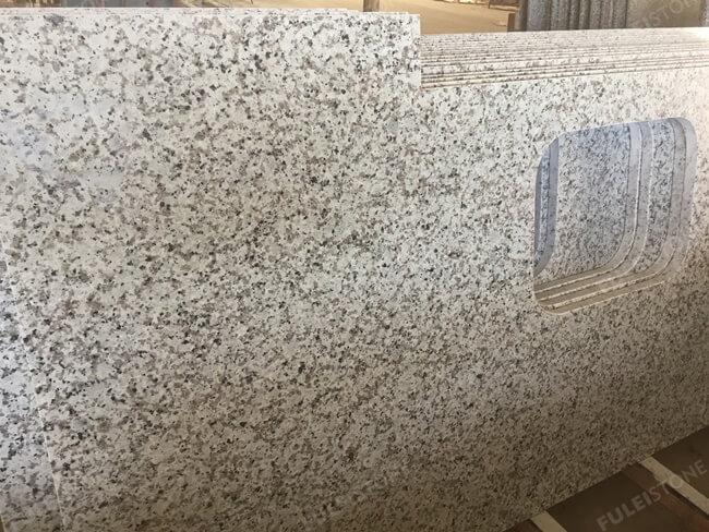 Bala White Granite Countertop with rectangle sink