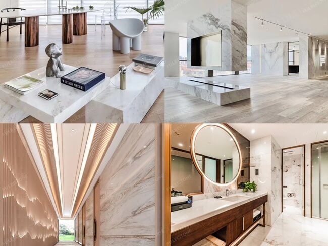 Bianco Orion Marble Application
