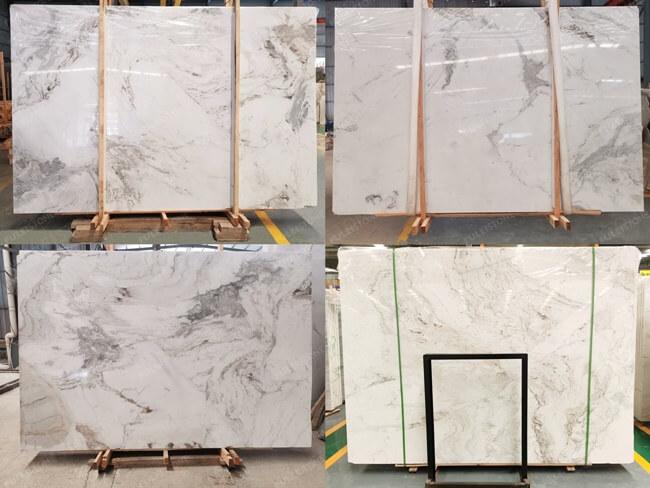 Bianco Orion Marble-Random Veinings