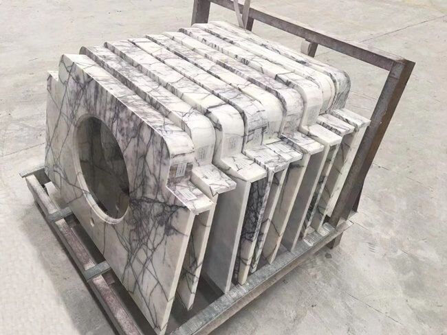 Lilac White Marble Vanity Tops (4)
