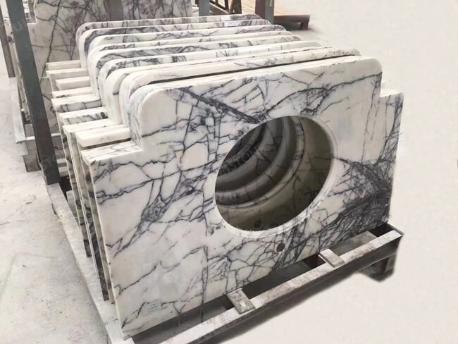 Lilac White Marble Vanity Tops (6)