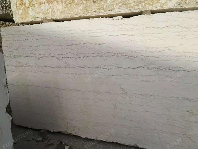 perlino bianco marble block