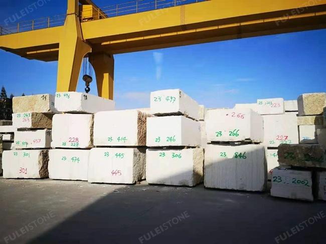 perlino bianco marble blocks
