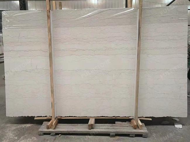 perlino bianco marble vein cut in factory