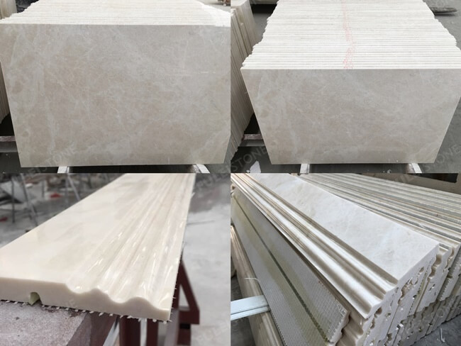 French Vanilla Marble-Customized Tiles