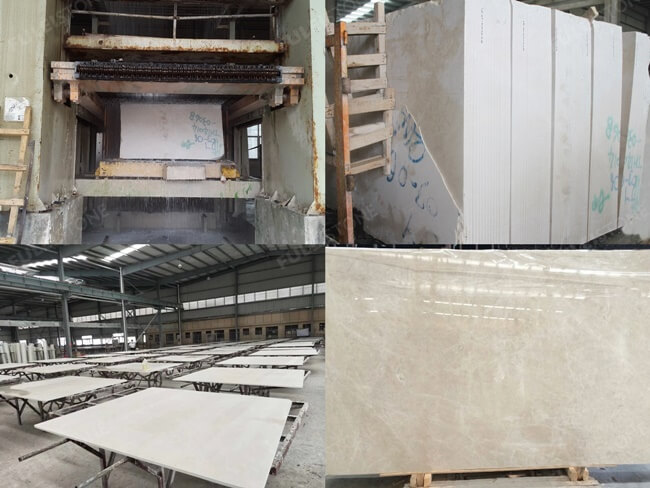 French Vanilla Marble Processing