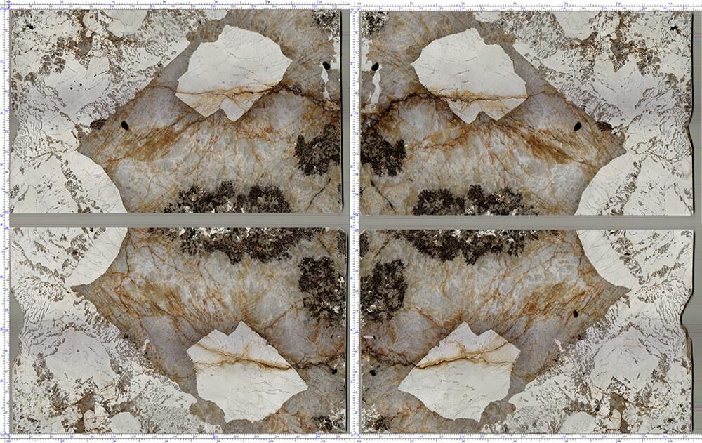 Instock Slabs – Patagonia Granite – Bookmatched